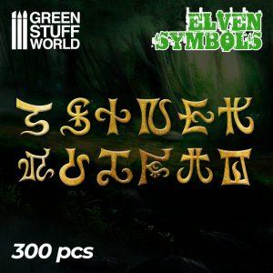 Etched Brass - Elven Runes & Symbols